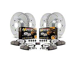 Power Stop Z36 Extreme Truck and Tow 6-Lug Brake Rotor and Pad Kit; Front and Rear (19-21 RAM 1500)