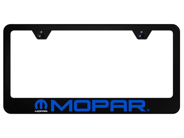 License Frame; Mopar Name and Logo PC Frame; UV Print on Black