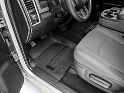 Weathertech DigitalFit Front and Rear Floor Liners for Vinyl Floors; Black (12-18 RAM 1500 Crew Cab)