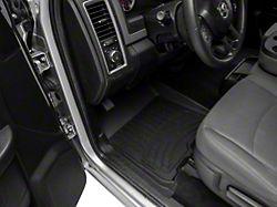 Weathertech Front and Rear Floor Liner HP; Black (12-18 RAM 1500 Crew Cab)