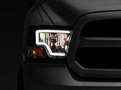 Raxiom LED Bar Headlights; Black Housing; Clear Lens (09-18 RAM 1500 w/o Factory Projector Headlights)