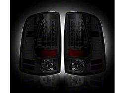 LED Tail Lights; Black Housing; Smoked Lens (13-18 RAM 1500 w/ Factory LED Tail Lights)