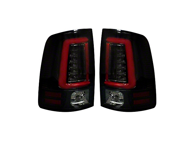 OLED Tail Lights with Scanning Turn Signals; Smoked (13-18 RAM 1500 w/ Factory LED Tail Lights)