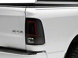 OLED Tail Lights with Scanning Turn Signals; Black Housing; Smoked Lens (09-18 RAM 1500 w/ Factory Halogen Tail Lights;)