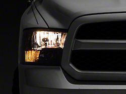 Axial Euro Style Headlights with Dual Bulb; Chrome Housing; Clear Lens (09-18 RAM 1500 w/o Factory Projector Headlights)