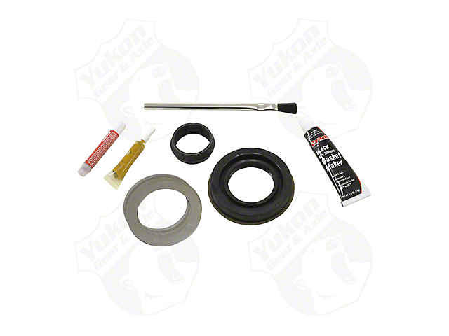 Yukon Gear Differential Rebuild Kit; Front; Chrysler 8.0-Inch; IFS; Standard Rotation; Includes Pinion Seal and Crush Sleeve; If Applicable Complete Shim Kit, Marking Compound and Brush; IFS (02-10 4WD RAM 1500)