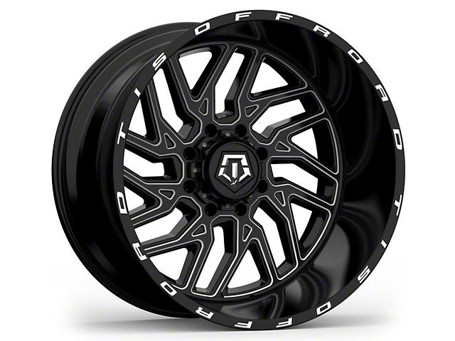 TIS 544BM Gloss Black Milled 6-Lug Wheel; 20x10; -25mm Offset (05-15 Tacoma)