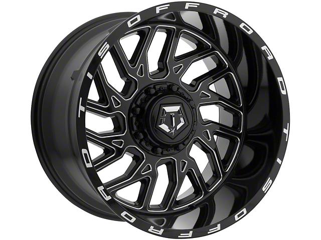 TIS 544BM Gloss Black Milled 6-Lug Wheel; 20x9; 18mm Offset (16-21 Tacoma)