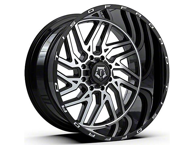 TIS 544MB Gloss Black Machined 6-Lug Wheel; 22x12; -44mm Offset (05-15 Tacoma)