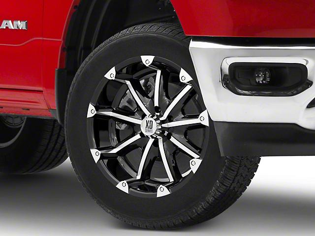 XD Badlands Gloss Black Machined 6-Lug Wheel; 20x9; -12mm Offset (16-21 Tacoma)