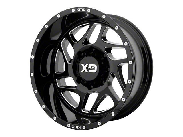 XD Fury Gloss Black Milled 6-Lug Wheel; 20x9; 18mm Offset (16-21 Tacoma)