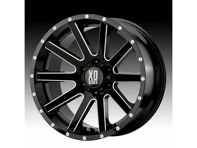 XD Fusion Gloss Black Mahined 6-Lug Wheel; 20x9; -12mm Offset (05-15 Tacoma)