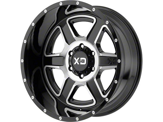 XD Fusion Gloss Black Mahined 6-Lug Wheel; 20x9; 18mm Offset (16-21 Tacoma)