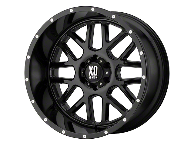 XD Grenade Gloss Black 6-Lug Wheel; 20x9; 18mm Offset (05-15 Tacoma)