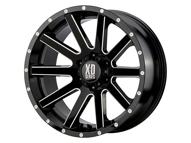 XD Heist Gloss Black Milled 6-Lug Wheel; 20x9; 18mm Offset (16-21 Tacoma)