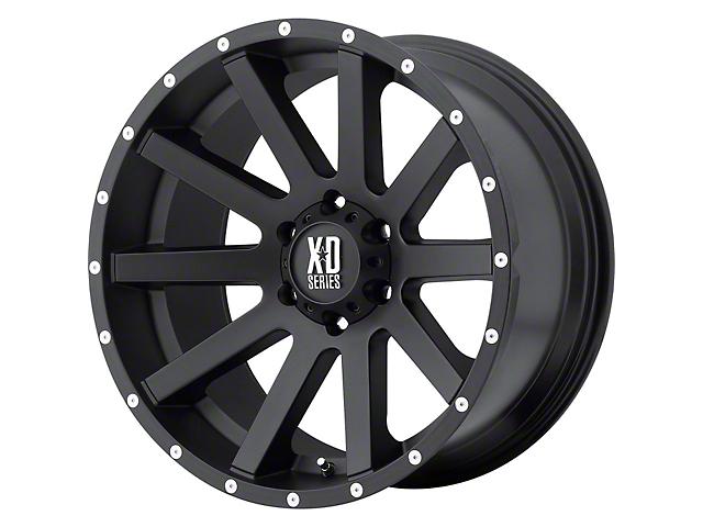 XD Heist Satin Black 6-Lug Wheel; 20x10; -24mm Offset (16-21 Tacoma)