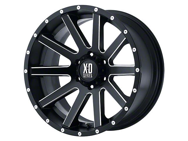 XD Heist Satin Black Milled 6-Lug Wheel; 20x10; -24mm Offset (16-21 Tacoma)