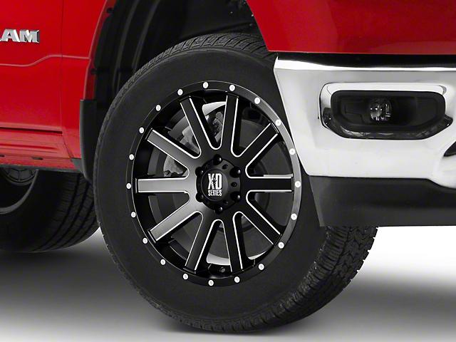 XD Heist Satin Black Milled 6-Lug Wheel; 20x9; 18mm Offset (16-21 Tacoma)