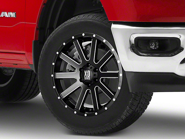 XD Heist Satin Black Milled 6-Lug Wheel; 20x9; 30mm Offset (05-15 Tacoma)