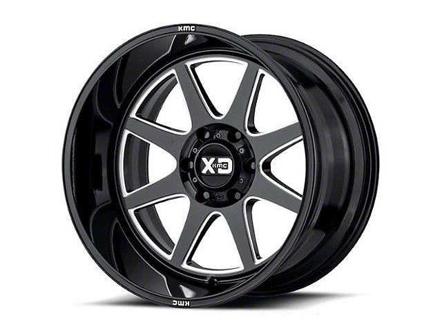 XD Pike Gloss Black Milled 6-Lug Wheel; 20x9; 18mm Offset (16-21 Tacoma)
