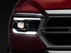 Signature Series Projector Headlights; Chrome Housing; Clear Lens (19-21 RAM 1500 w/ Factory Halogen Headlights)