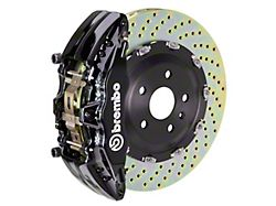 Brembo GT Series 6-Piston Front Big Brake Kit with 15-Inch 2-Piece Cross Drilled Rotors; Black Calipers (04-08 RAM 1500)