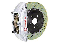 Brembo GT Series 6-Piston Front Big Brake Kit with 15-Inch 2-Piece Cross Drilled Rotors; Silver Calipers (04-08 RAM 1500)