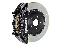 Brembo GT Series 6-Piston Front Big Brake Kit with 15-Inch 2-Piece Type 1 Slotted Rotors; Black Calipers (04-08 RAM 1500)
