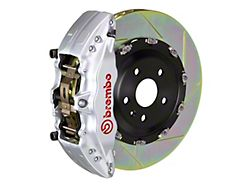 Brembo GT Series 6-Piston Front Big Brake Kit with 15-Inch 2-Piece Type 1 Slotted Rotors; Silver Calipers (04-08 RAM 1500)