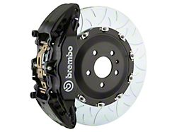 Brembo GT Series 6-Piston Front Big Brake Kit with 15-Inch 2-Piece Type 3 Slotted Rotors; Black Calipers (04-08 RAM 1500)