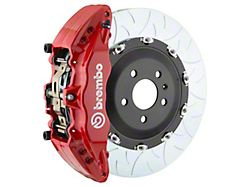 Brembo GT Series 6-Piston Front Big Brake Kit with 15-Inch 2-Piece Type 3 Slotted Rotors; Red Calipers (04-08 RAM 1500)