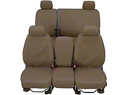 Covercraft SeatSaver Front Seat Cover; Waterproof Taupe; With Bucket Seats, Adjustable Headrests; With or Without Seat Airbags (12-13 RAM 2500)