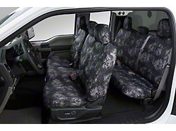 Covercraft SeatSaver Second Row Seat Cover; Prym1 Blackout Camo; With Solid Bench Seat, 2-Adjustable Headrests, 1-Molded Headrests and Shoulder Belt in Seatback; Without Armrest (19-21 RAM 1500)