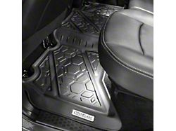 Air Design Soft Touch Front and Rear Floor Liners; Black (13-18 RAM 1500 Crew Cab)