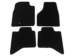 Nylon Carpet Front and Rear Floor Mats; Black (09-14 RAM 1500 Quad Cab, Crew Cab)