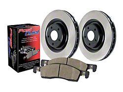 Preferred Axle Plain 5-Lug Brake Rotor and Pad Kit; Front (06-18 RAM 1500, Excluding SRT-10 & Mega Cab)