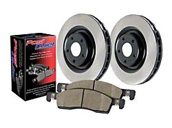 Preferred Axle Plain 5-Lug Brake Rotor and Pad Kit; Front (02-05 RAM 1500, Excluding SRT-10)