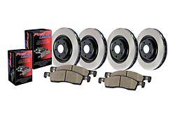 Preferred Axle Plain 5-Lug Brake Rotor and Pad Kit; Front and Rear (2004 RAM 1500 SRT-10)