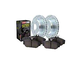 StopTech Select Sport Axle Drilled and Slotted 5-Lug Brake Rotor and Pad Kit; Front (06-18 RAM 1500, Excluding SRT-10 & Mega Cab)