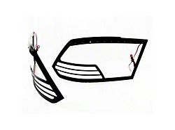Tail Light Bezels with Red LED Brake and Running Lights; Black (09-14 RAM 1500)