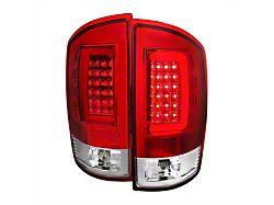 G2 LED Tail Lights; Chrome Housing; Red Clear Lens (02-06 RAM 1500)