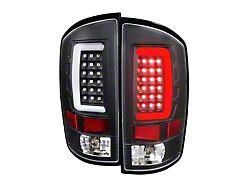 G2 LED Tail Lights; Matte Black Housing; Clear Lens (07-09 RAM 2500)