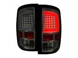 G2 White Bar LED Tail Lights; Chrome Housing; Smoked Lens (09-18 RAM 1500 w/o Factory LED Tail Lights)