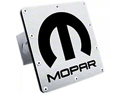 Mopar Class III Trailer Hitch Plug; Brushed (Universal; Some Adaptation May Be Required)