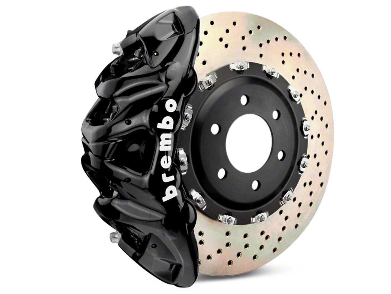 Brembo GT Series 8-Piston Front Brake Kit - 2-Piece Cross Drilled Rotors - Black (07-18 Silverado 1500)