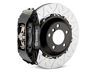 Brembo GT Series 4-Piston Rear Brake Kit - Type 3 Slotted Rotors - Black (07-13 Silverado 1500)