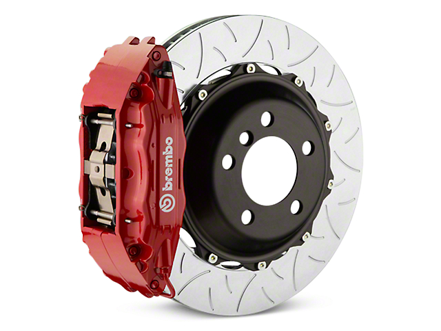 Brembo GT Series 4-Piston Rear Brake Kit - Type 3 Slotted Rotors - Red (07-13 Silverado 1500)