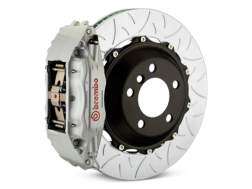 Brembo GT Series 4-Piston Rear Brake Kit - Type 3 Slotted Rotors - Silver (07-13 Silverado 1500)