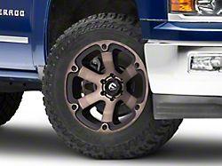 Fuel Wheels Beast Matte Black Machined with Dark Tint 6-Lug Wheel; 20x10; -18mm Offset (14-18 Silverado 1500)
