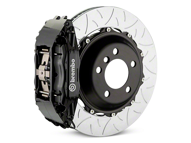 Brembo GT Series 4-Piston Rear Brake Kit - Type 3 Slotted Rotors - Black (14-18 Silverado 1500)
